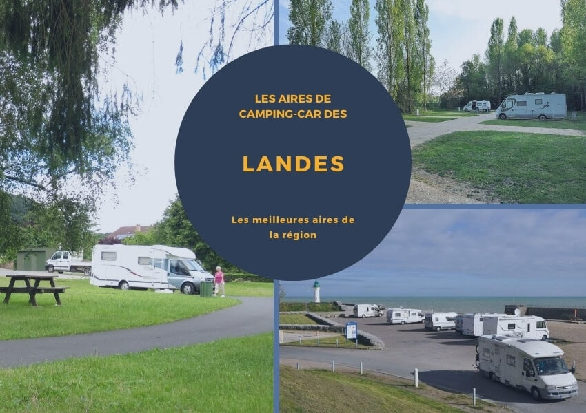 aire camping-car landes